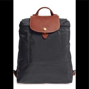 Longchamp Le Pliage gun metal Backpack